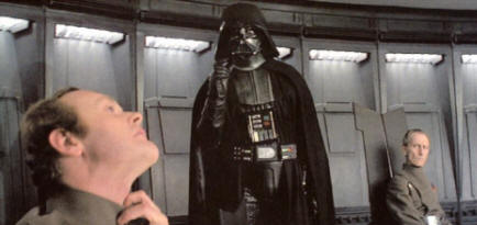 Darth Chokes a guy
