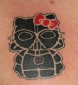 Hello Kitty Darth Vadar Tattoo