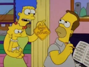 Homer w/baby on board