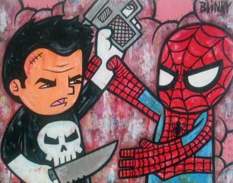 Punnisher vs. Spider-man